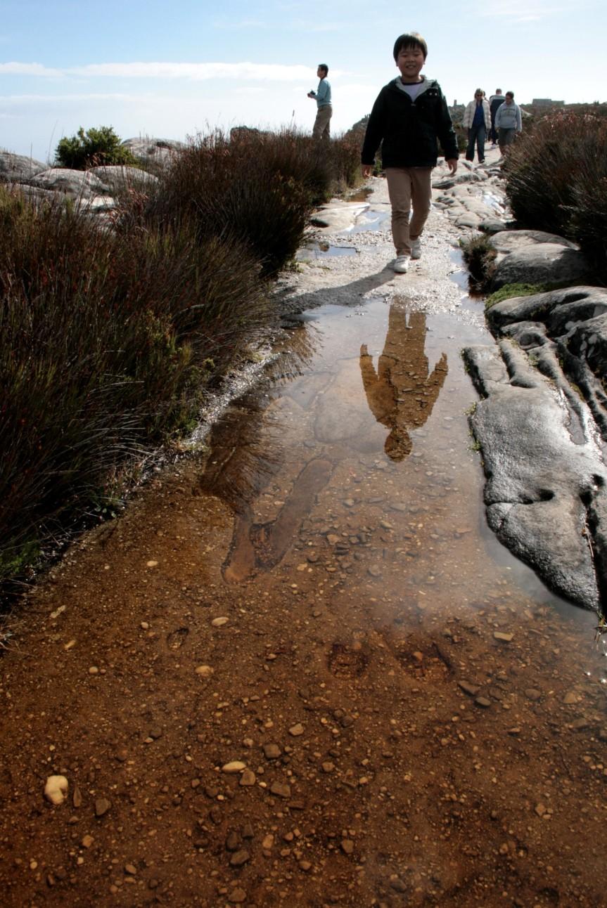 Cidade do Cabo - Trilha de pedra na Montanha da Mesa